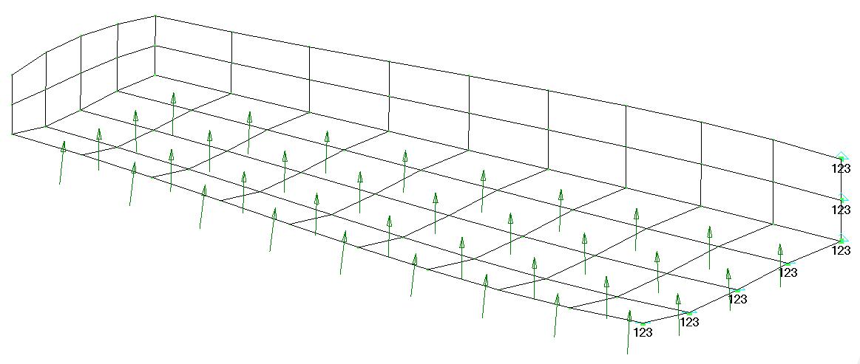 Femap NX Nastran отображение набора нагрузок с давлением