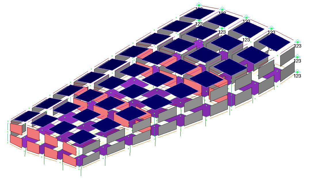 Femap NX Nastran отображение элементов с заполнением