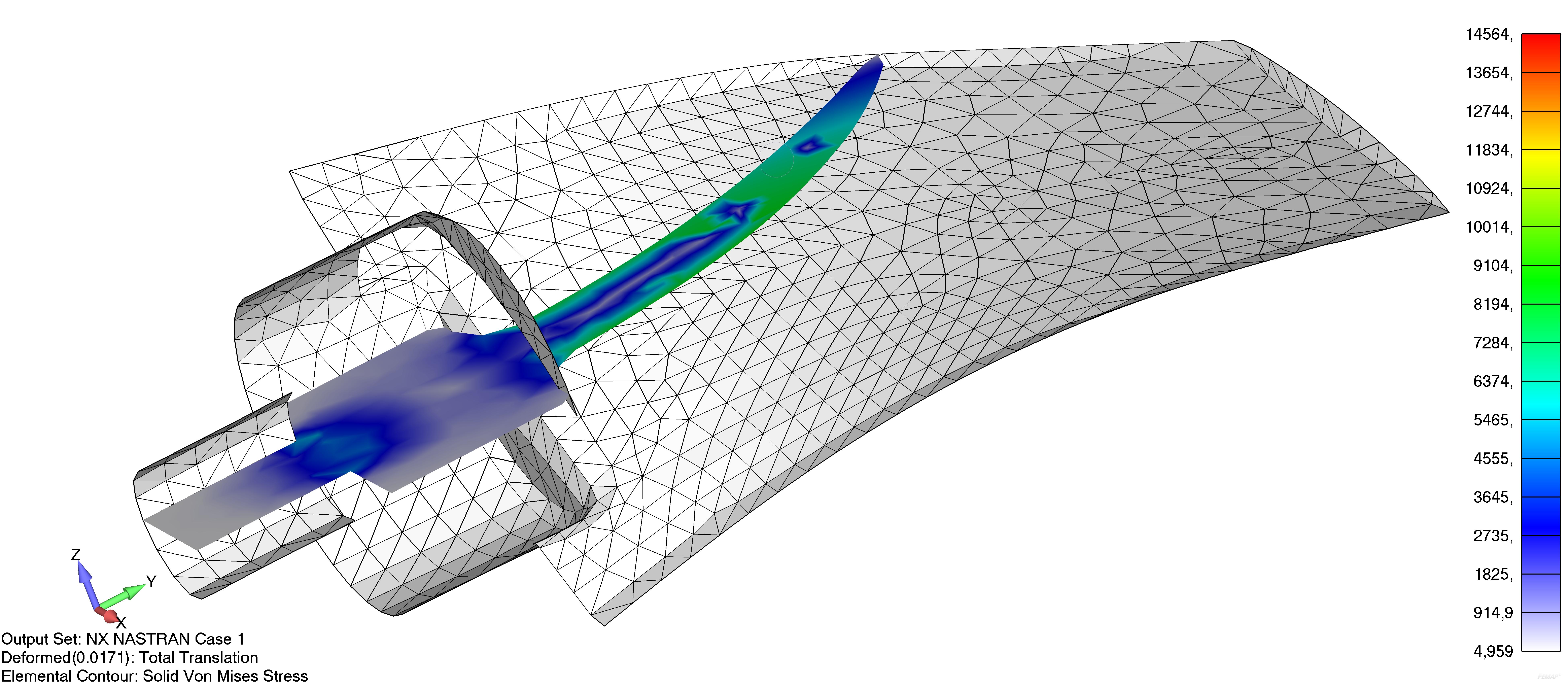 Femap NX Nastran динамическая плоскость сечения модели