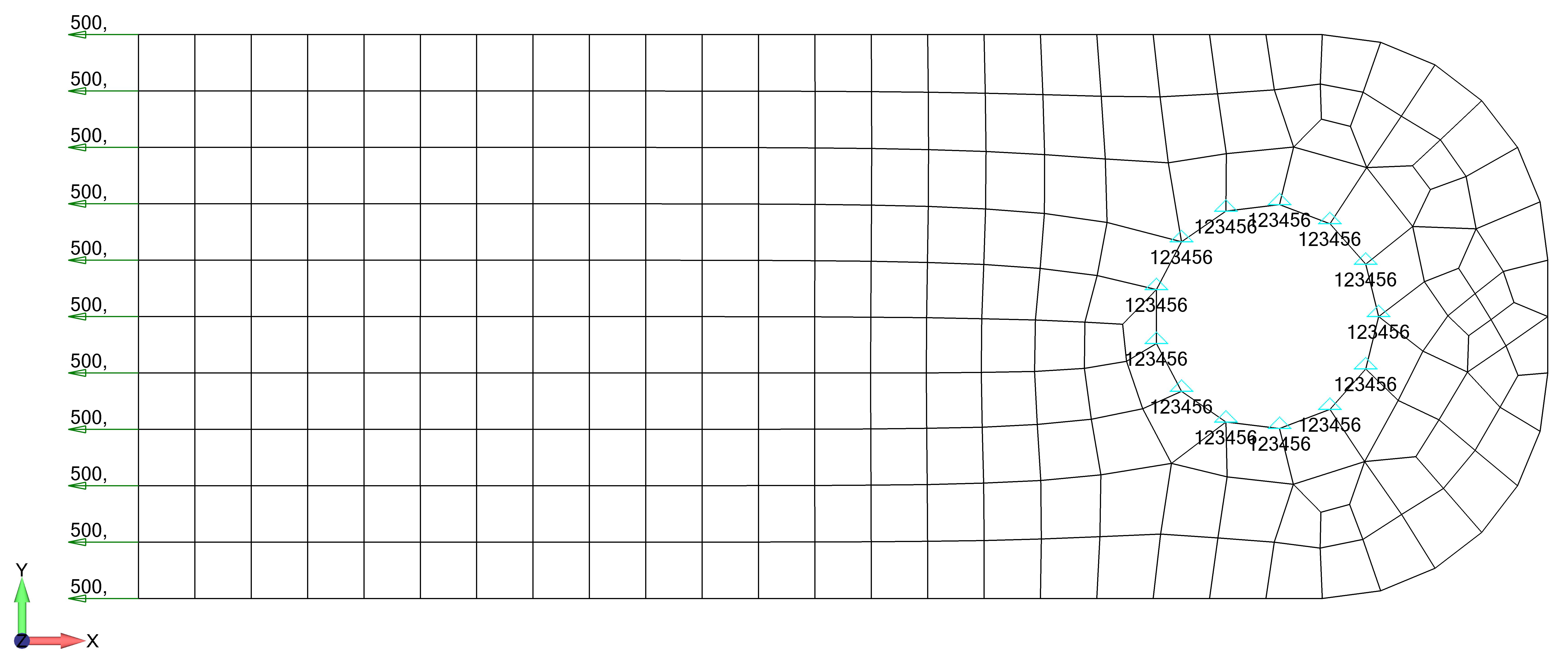 Femap NX Nastran построение графиков