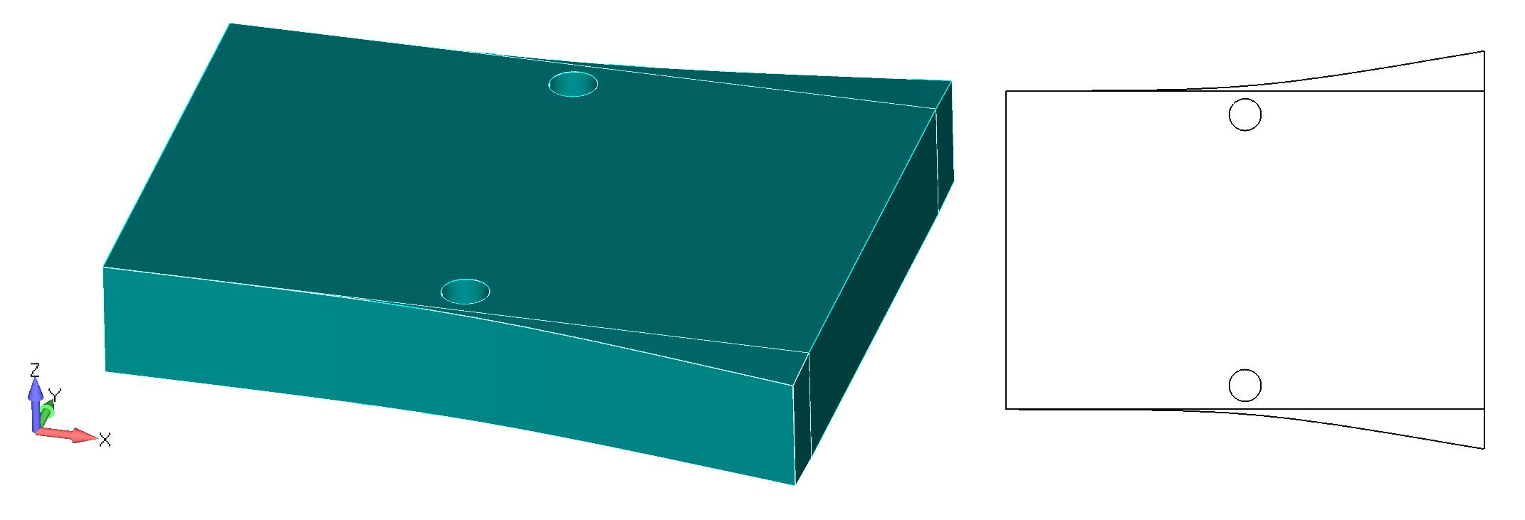 Femap NX Nastran подготовка поверхностей перед созданием сетки
