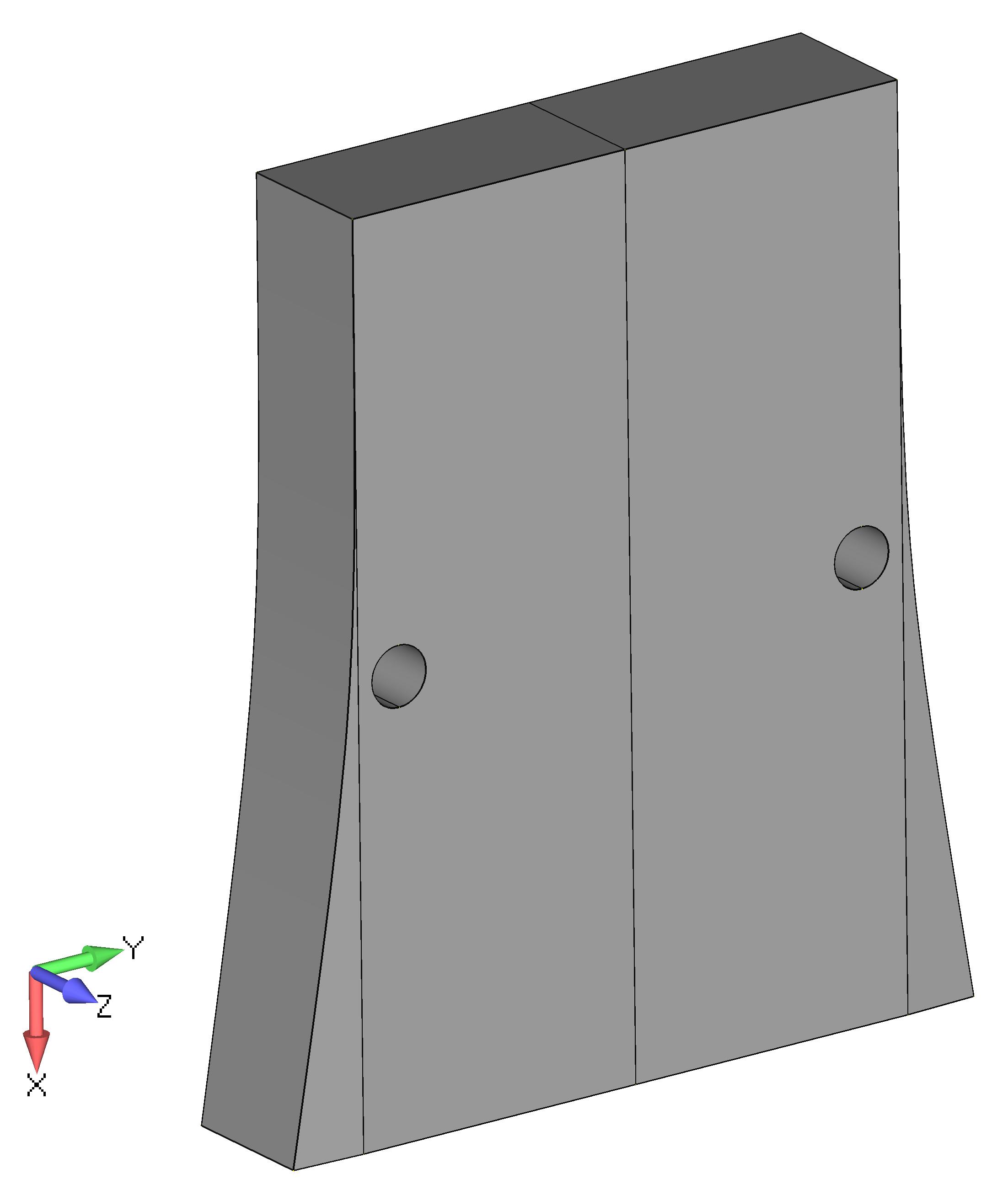 Femap NX Nastran Разделение геометрической модели пополам