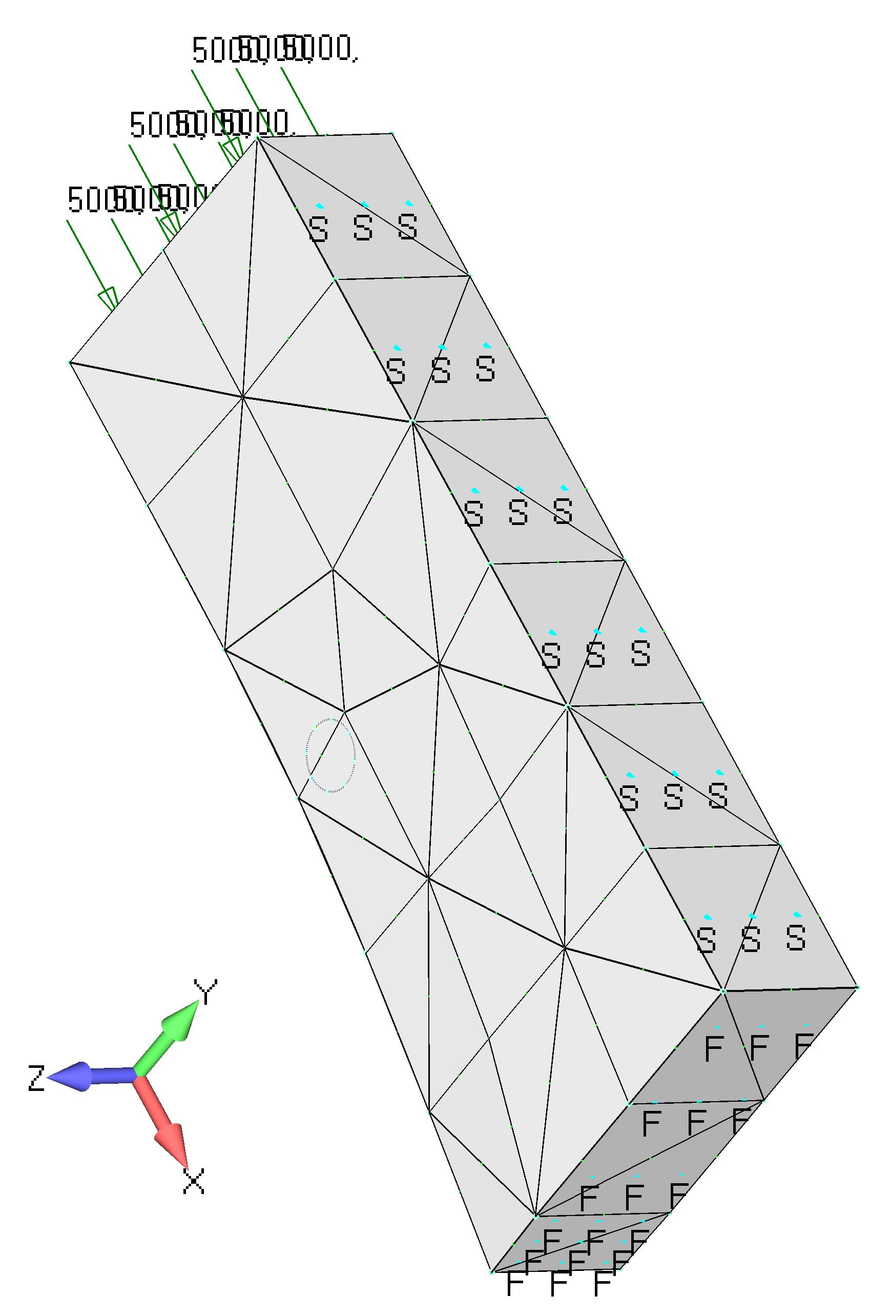 Femap NX Nastran Применение нагрузок и закреплений