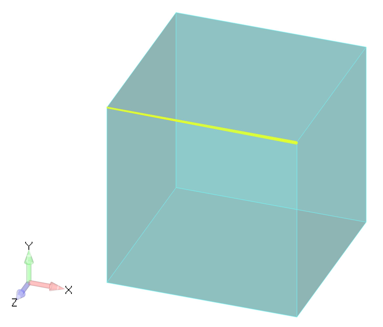 Femap NX Nastran автоматически сделает все поверхности прозрачными и подсветит кривые, которые не были сшиты командой Stitch