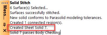 Femap NX Nastran создание твердотельного листа (Sheet Solid) вместо твердого тела (Solid)