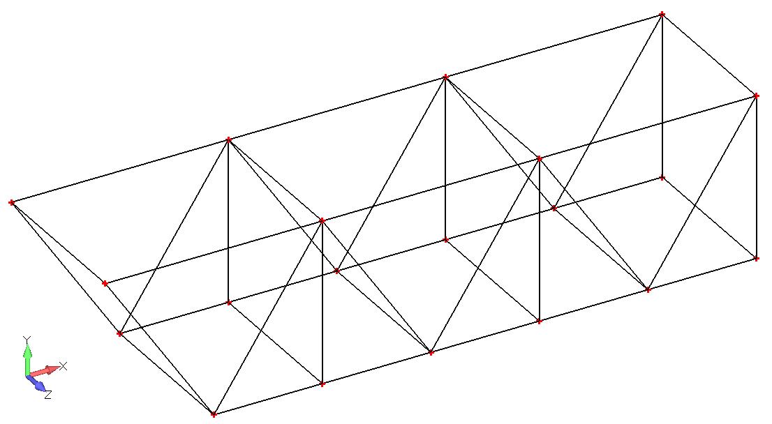 Femap NX Nastran геометрия фермы