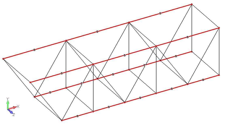 Femap NX Nastran Аппроксимируйте продольные кривые балочными элементами