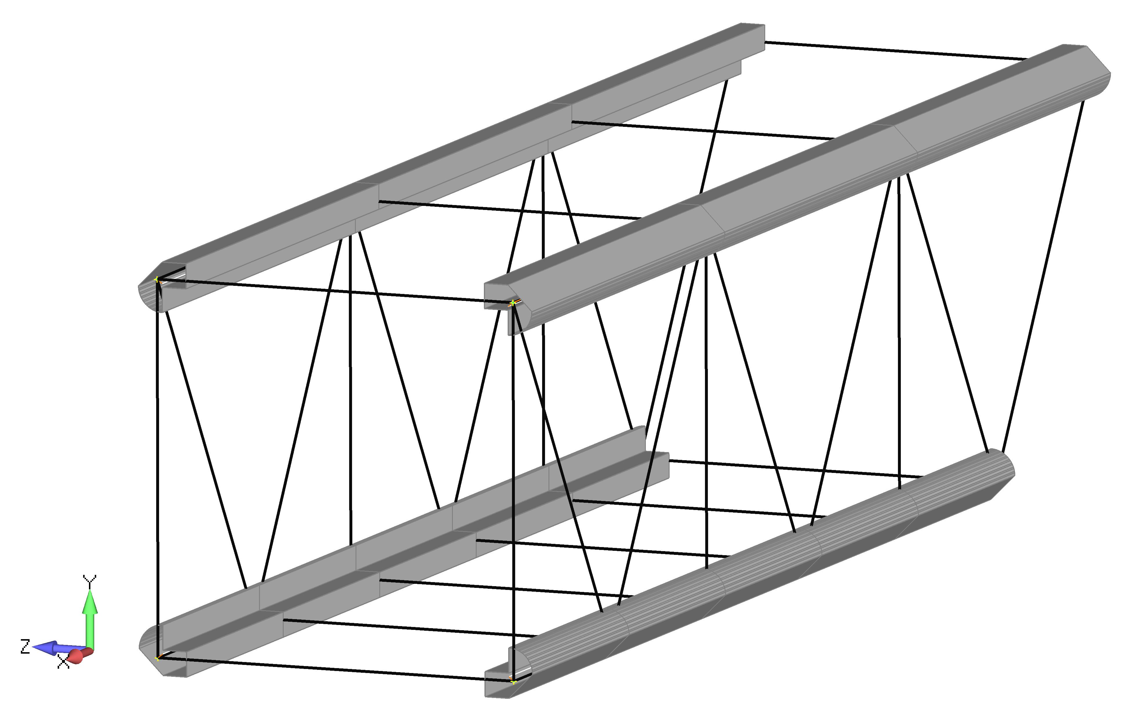 Femap NX Nastran Создание сетки балочных элементов