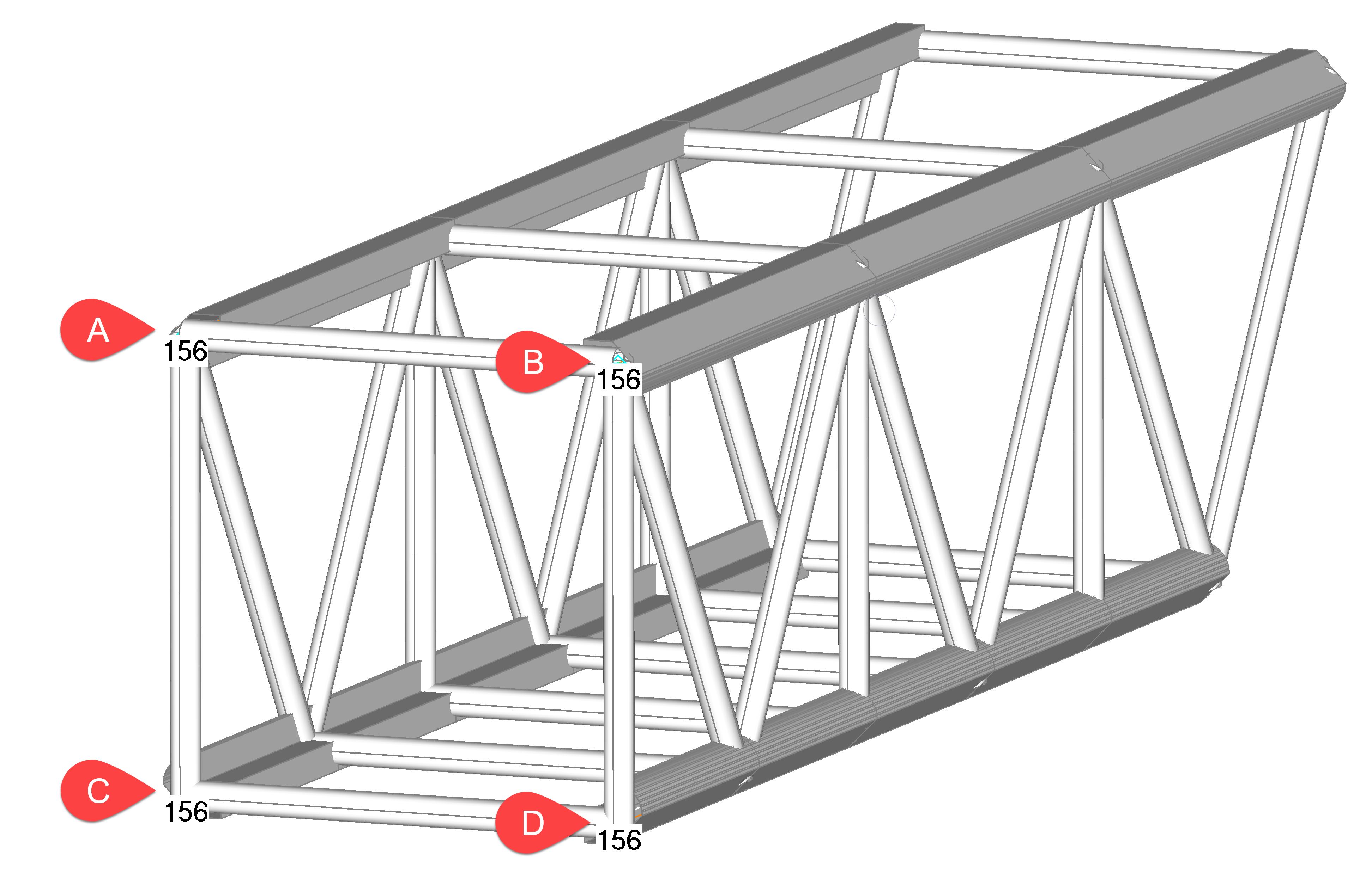 Femap NX Nastran Моделирование симметрии фермы и фиксация модели