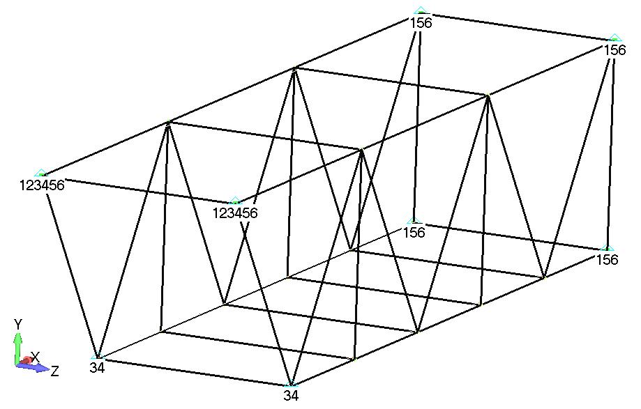 Femap NX Nastran отображение поперечных сечений балочных КЭ