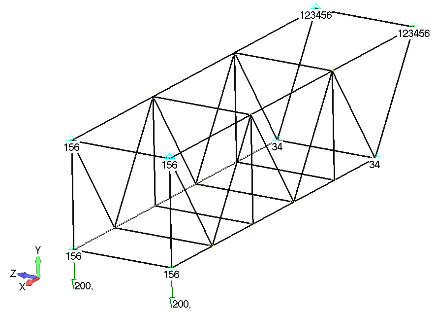 Femap NX Nastran Тип нагрузки по умолчанию - Force