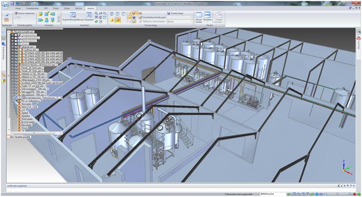Smap3D Piping: проектирование системы трубопроводов