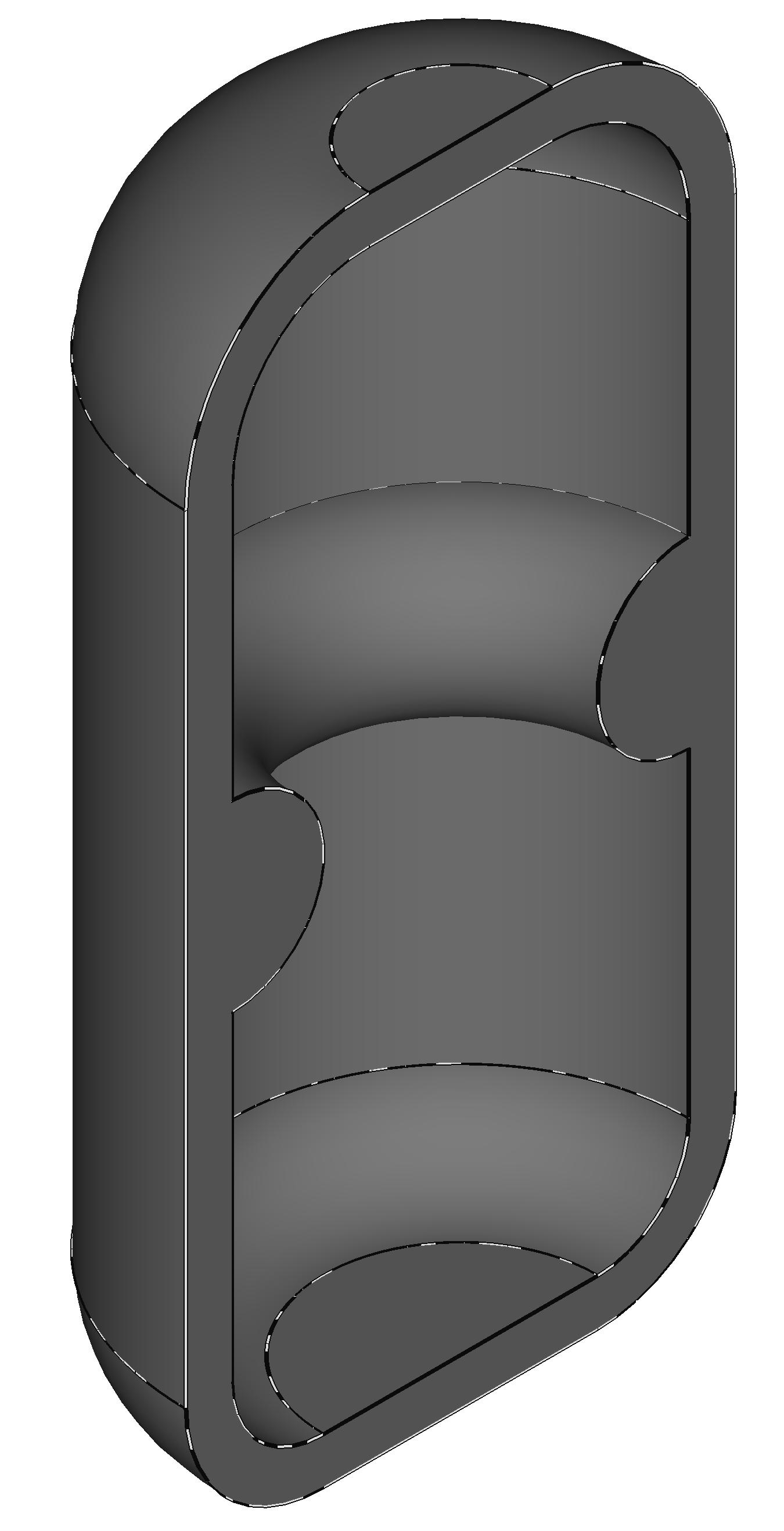 Femap NX Nastran модель осесимметричного сосуда под давлением
