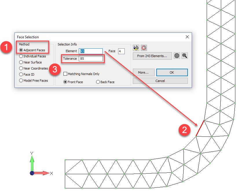 Femap NX Nastran примените узловую силовую нагрузку к осесимметричной модели
