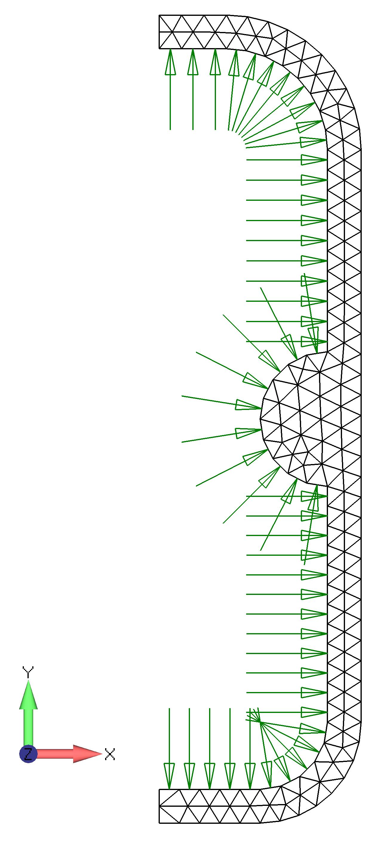 Femap NX Nastran Метод Adjacent Faces (смежные грани) выбирает связанные свободные грани