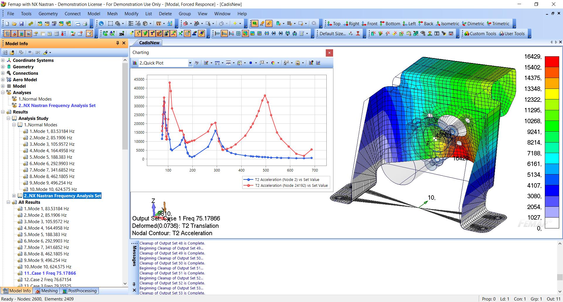Динамический модуль Dynamic Response (E502/503) в Siemens Femap