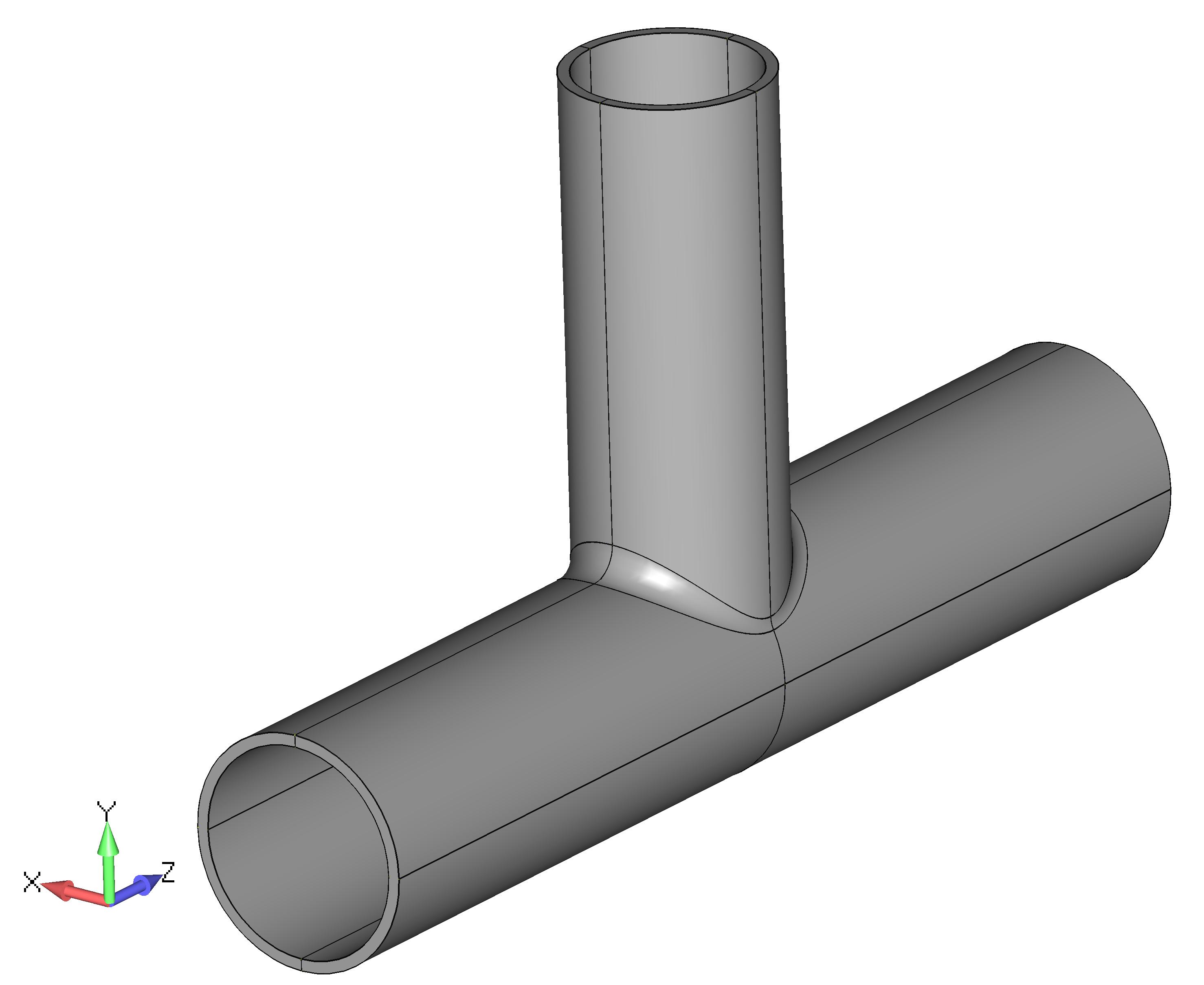 Femap NX Nastran обрезка модели сварной трубы