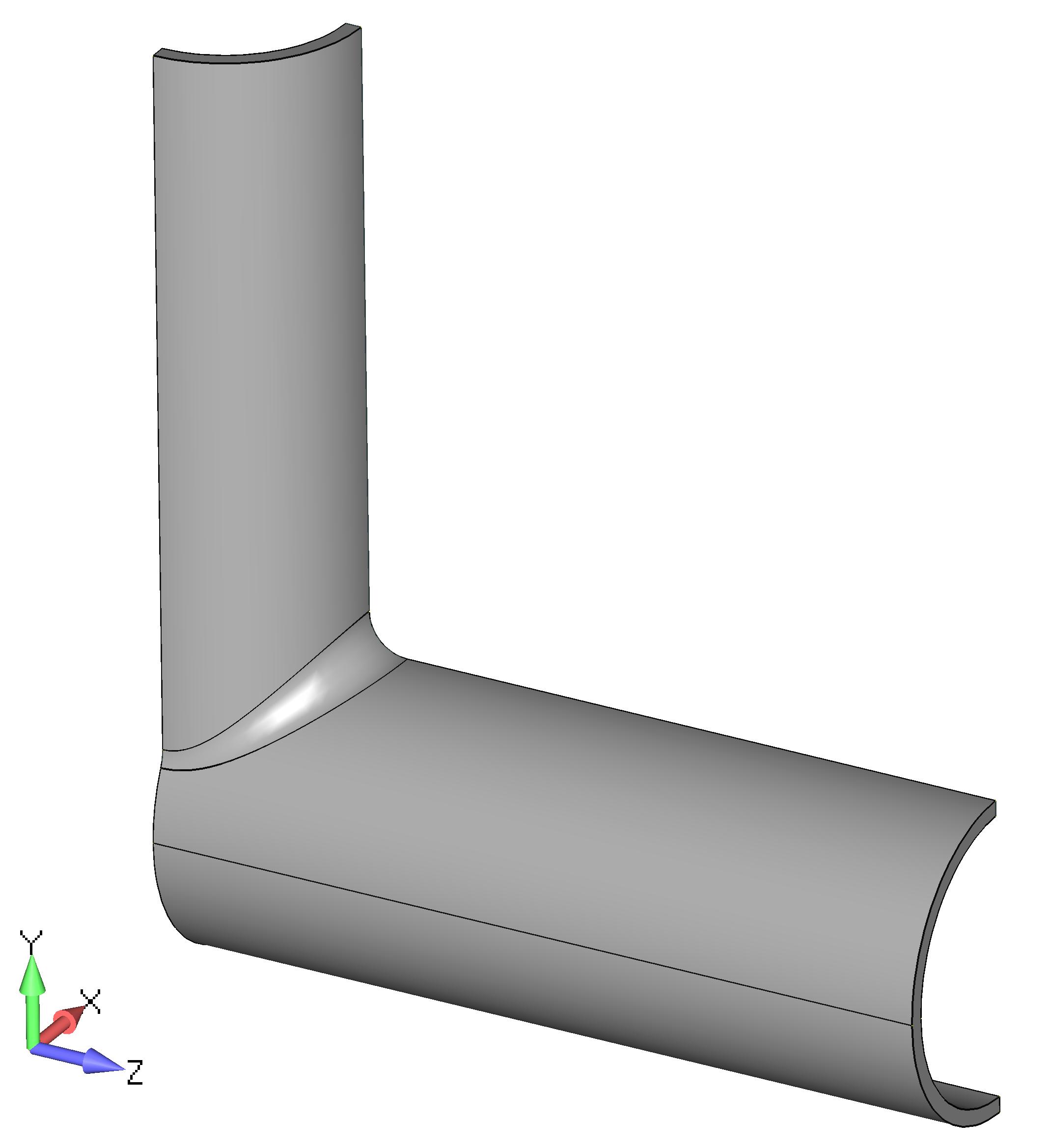 Femap NX Nastran удаление половины модели сварной трубы