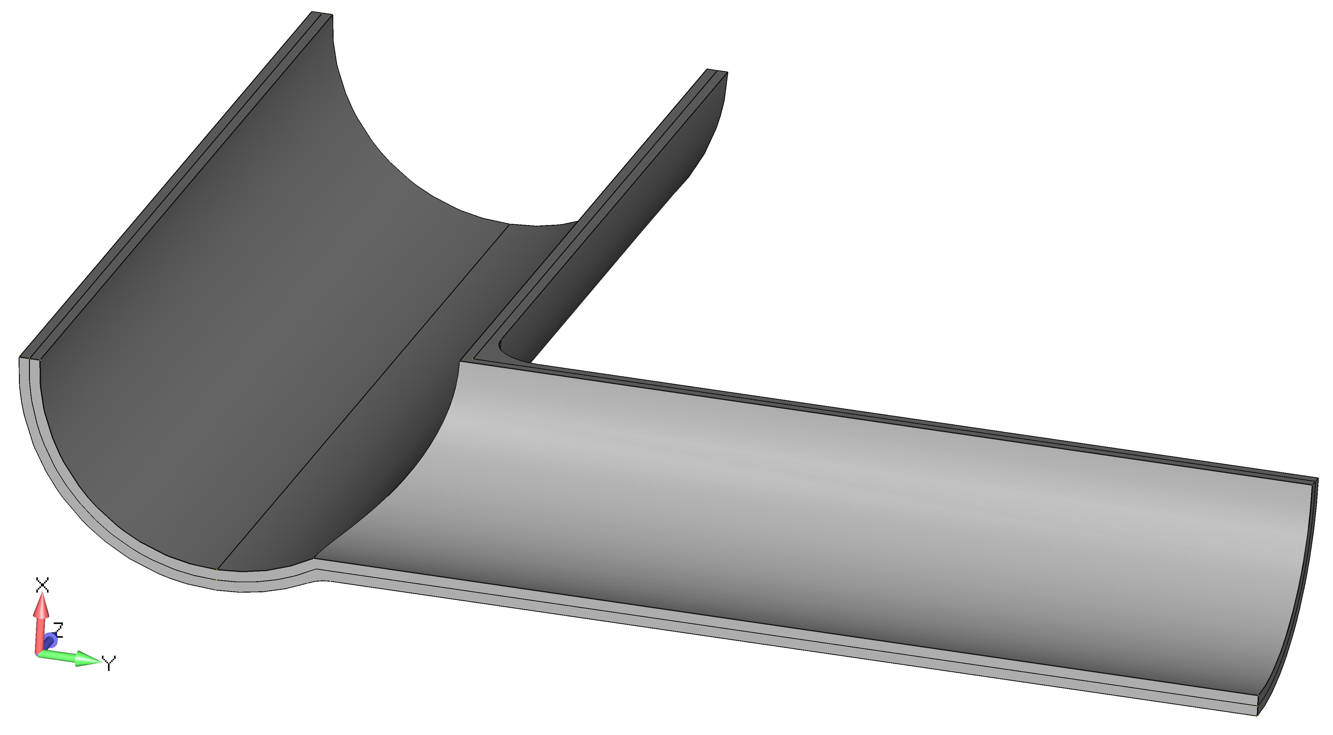 Femap NX Nastran построение серединных поверхностей