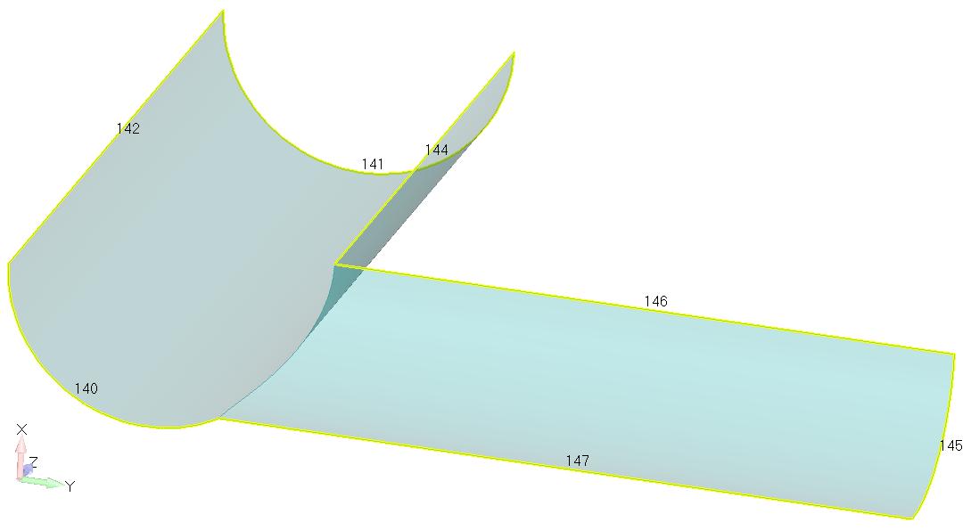 Femap NX Nastran Сшивание поверхностей