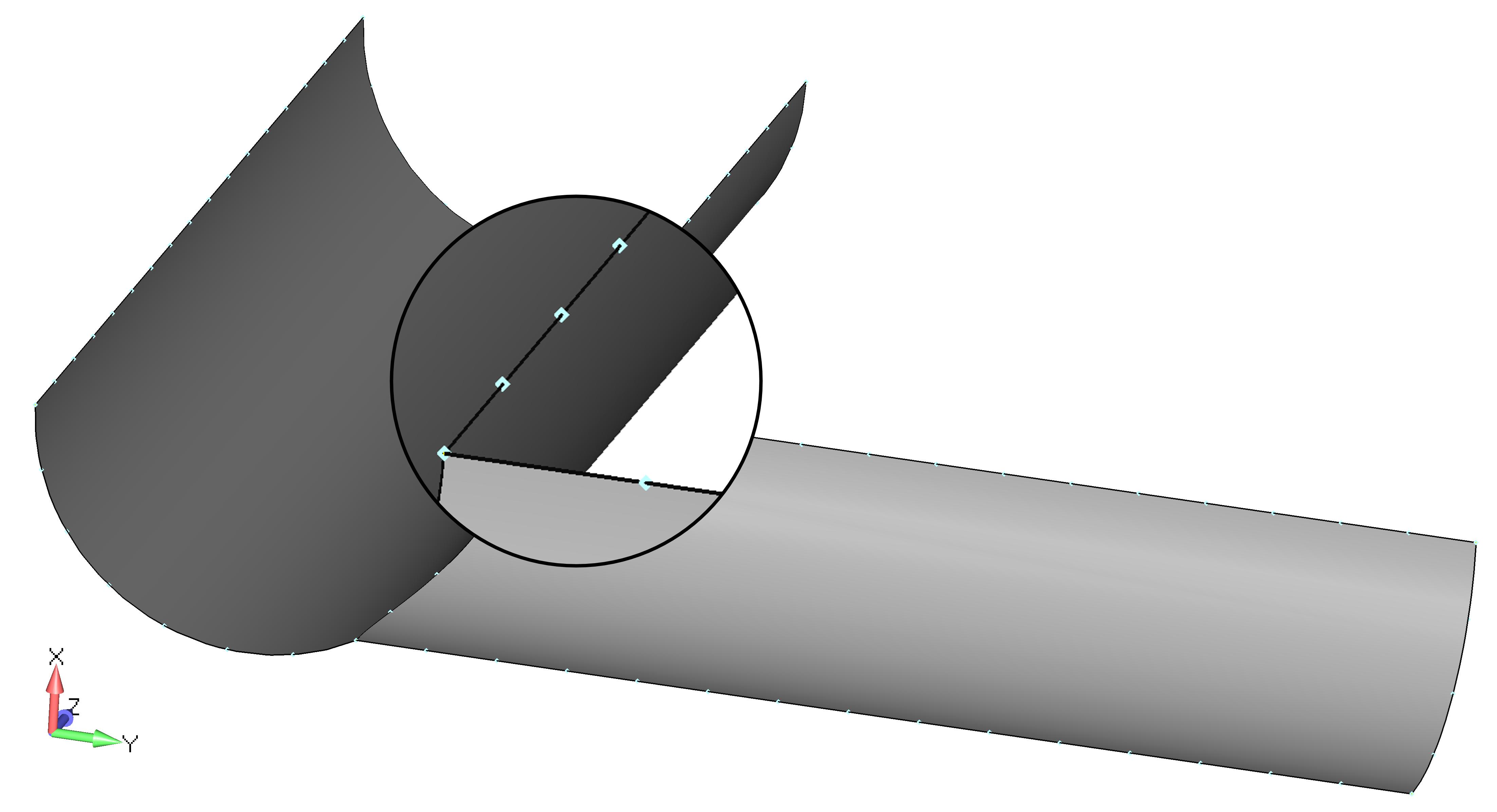 Femap NX Nastran создание сетки на серединных поверхностях