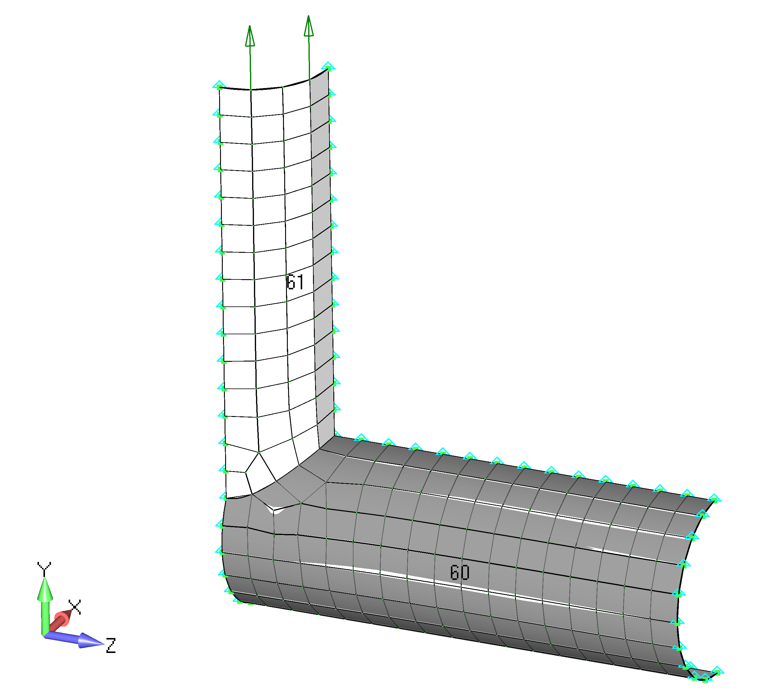 Femap NX Nastran Постобработка результатов анализа