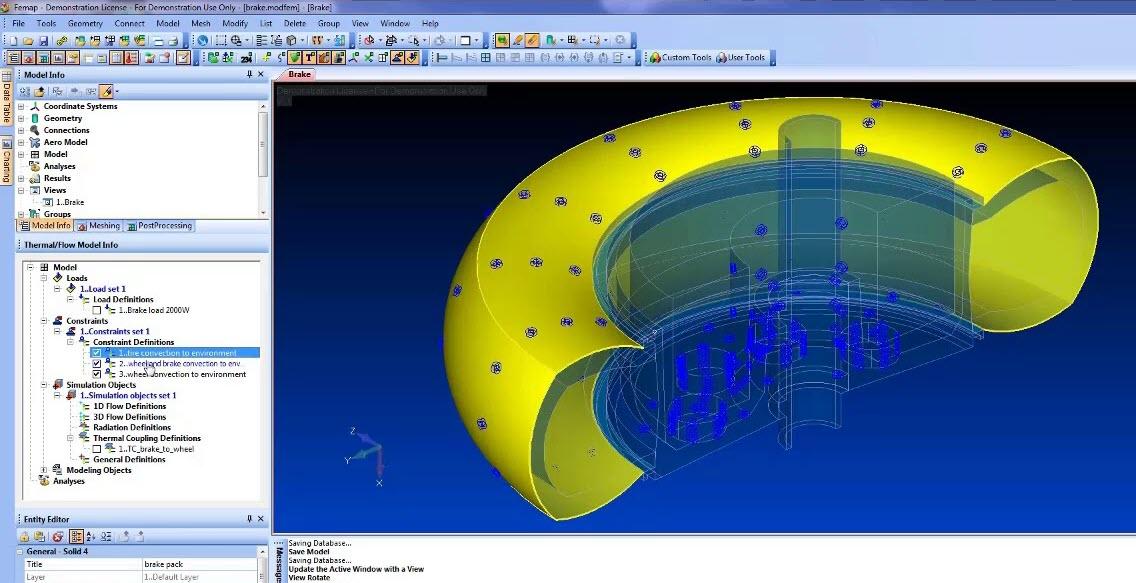 Модуль Femap Thermal Solver интегрирован в портфель продуктов Femap, nastran