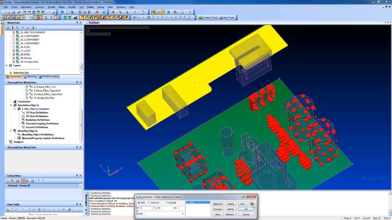 FEMAP: Advanced Thermal Solver (Расширенный тепловой анализ)