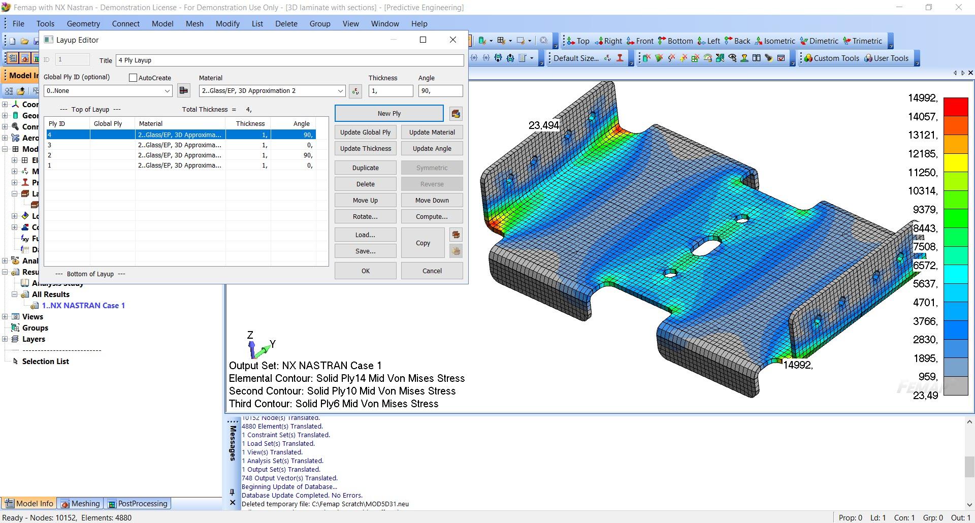 FEMAP with NX Nastran: Моделирование конструкций из композиционных материалов, обучение