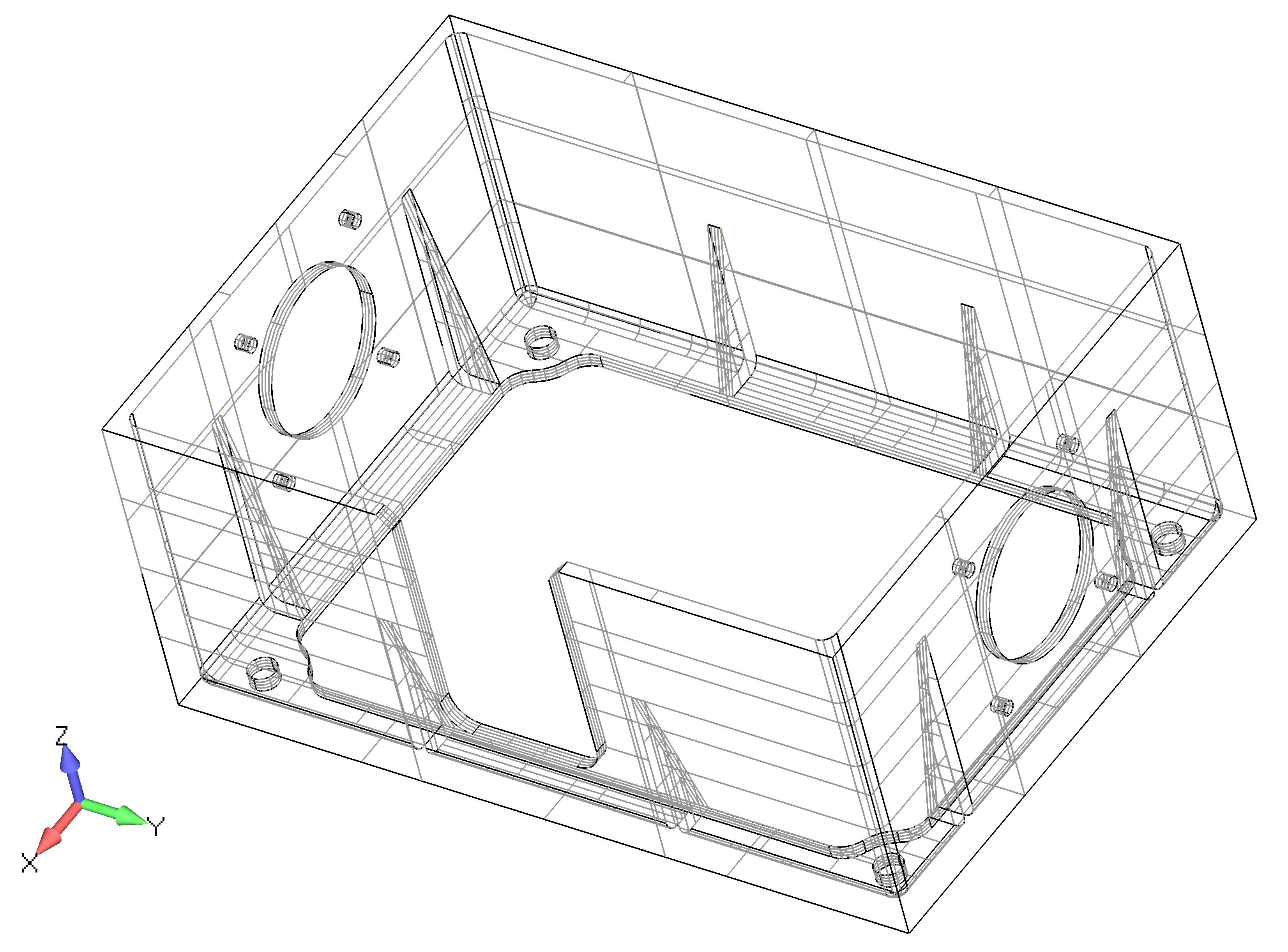 Femap 12 NX Nastran режим каркасного отображения модели
