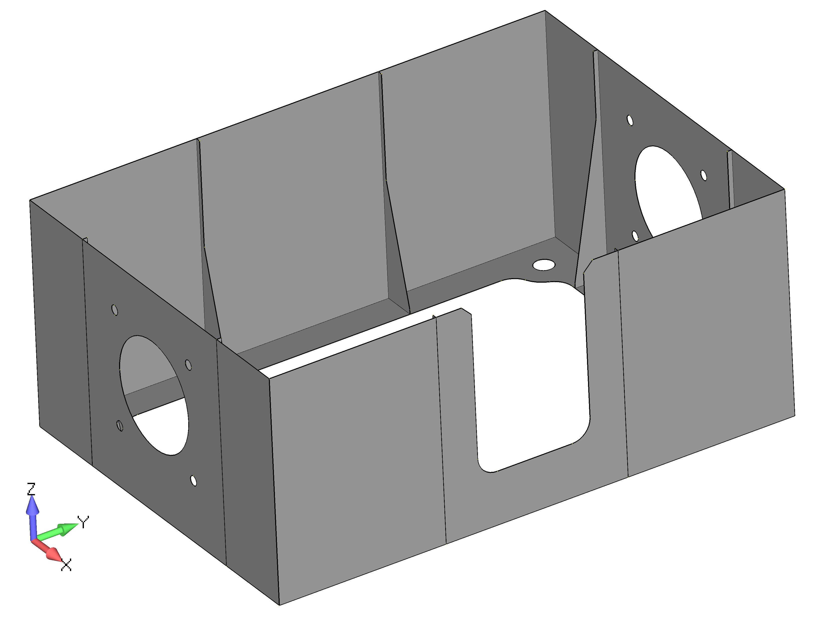 Femap 12 NX Nastran удаление исходной геометрии