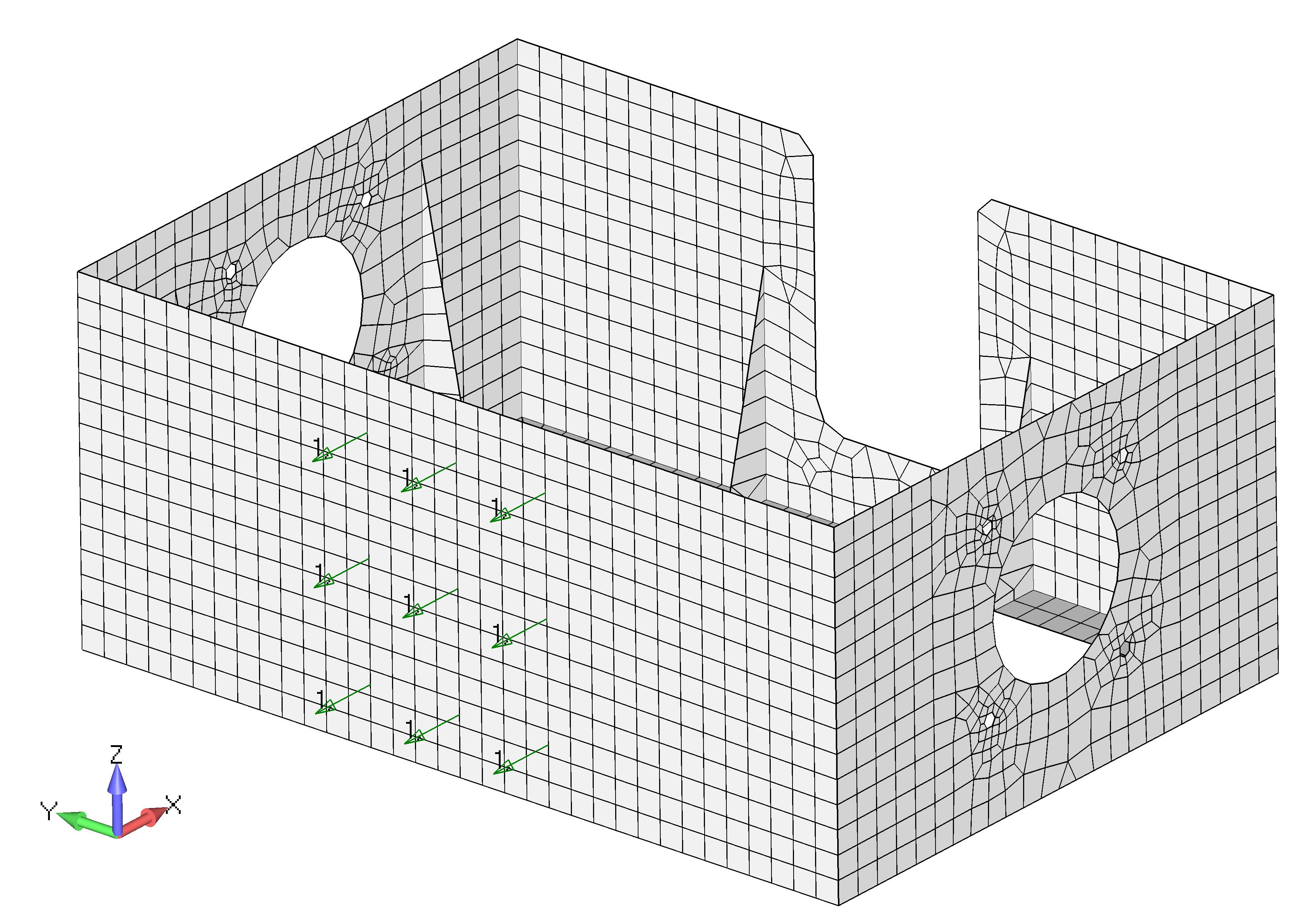 Femap 12 NX Nastran Приложение нагрузок и закреплений