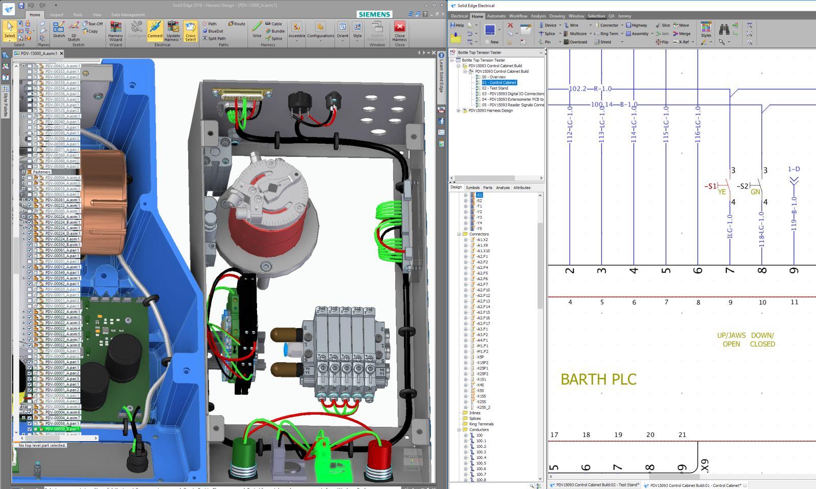 Solid Edge Harness Design ECAD сапр проектирование электропроводки жгуты электросхемы