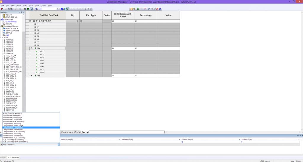 PADS Constraint Manager: Интерактивная система ввода правил проектирования
