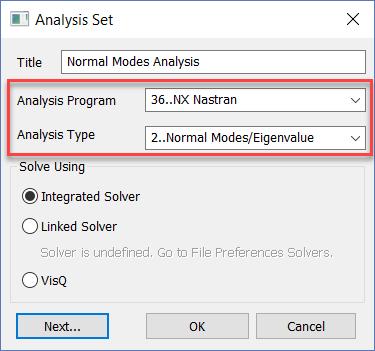 Femap 12 NX Nastran Запуск анализа собственных форм и частот