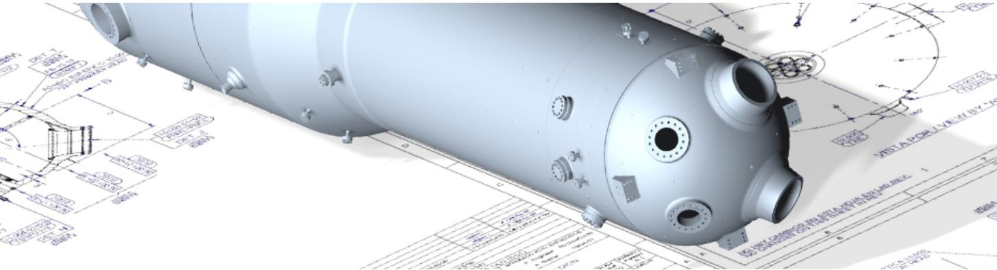 Кадис cadis Equipos Nucleares siemens plm software femap Парогенератор Корпус ядерного реактора Крышка реактора Компенсатор давления Трубопровод