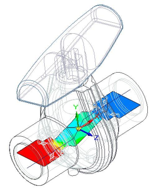 FloEFD Отображение картины в сечении