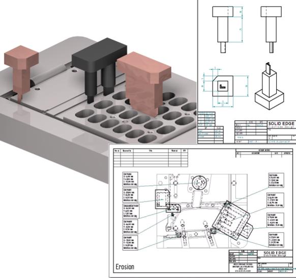 cadis solid edge mold toolind проектирование пресс формы поверхность разъема искровой зазор