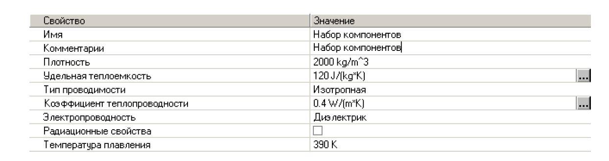 FloEFD Создание материалов в инженерной базе данных