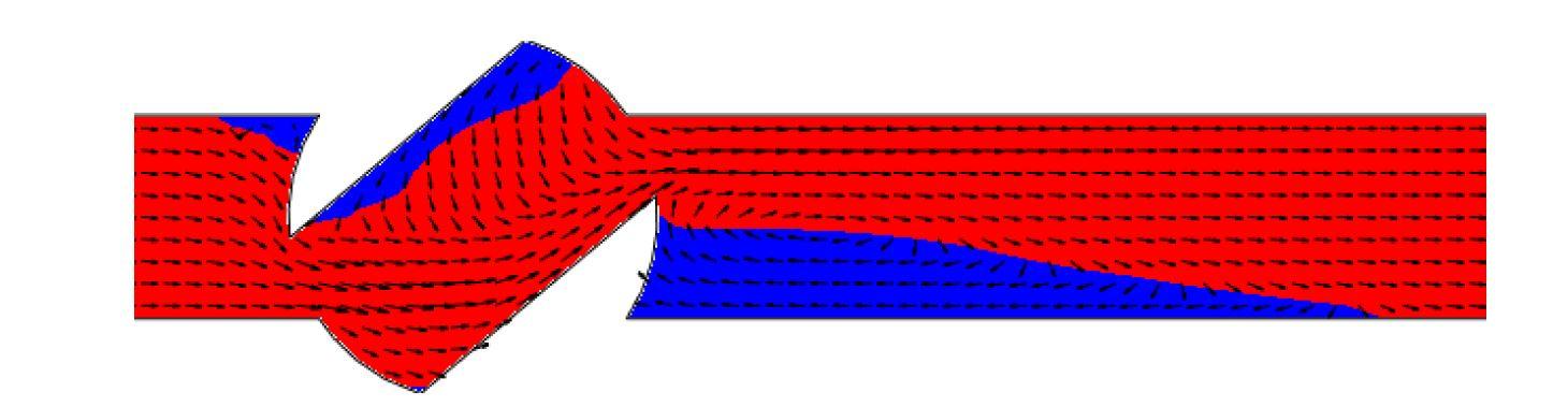 FloEFD распределение полного давления в кране
