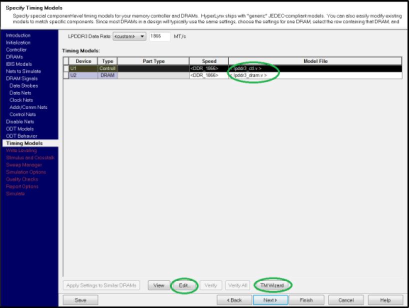 HyperLynx DDR: настройка значений тайминга