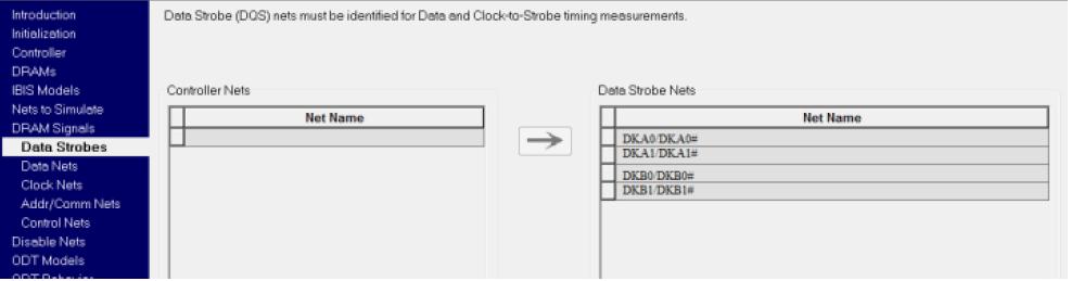 HyperLynx DDR Стробы данных записи