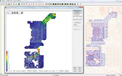 PADS Professional анализ падения напряжения в цепях питания, анализ целостности питания PADS DC Drop