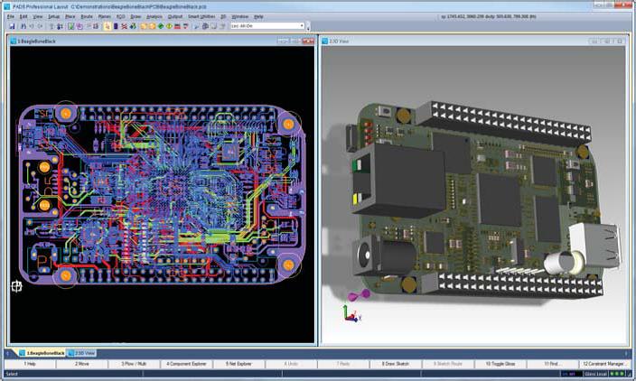 PADS Professional 3D-визуализация печатной платы