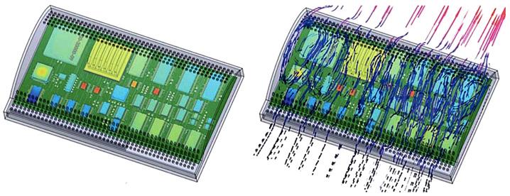 FloTHERM XT пример моделирования видеокарты с изогнутой геометрией радиатора