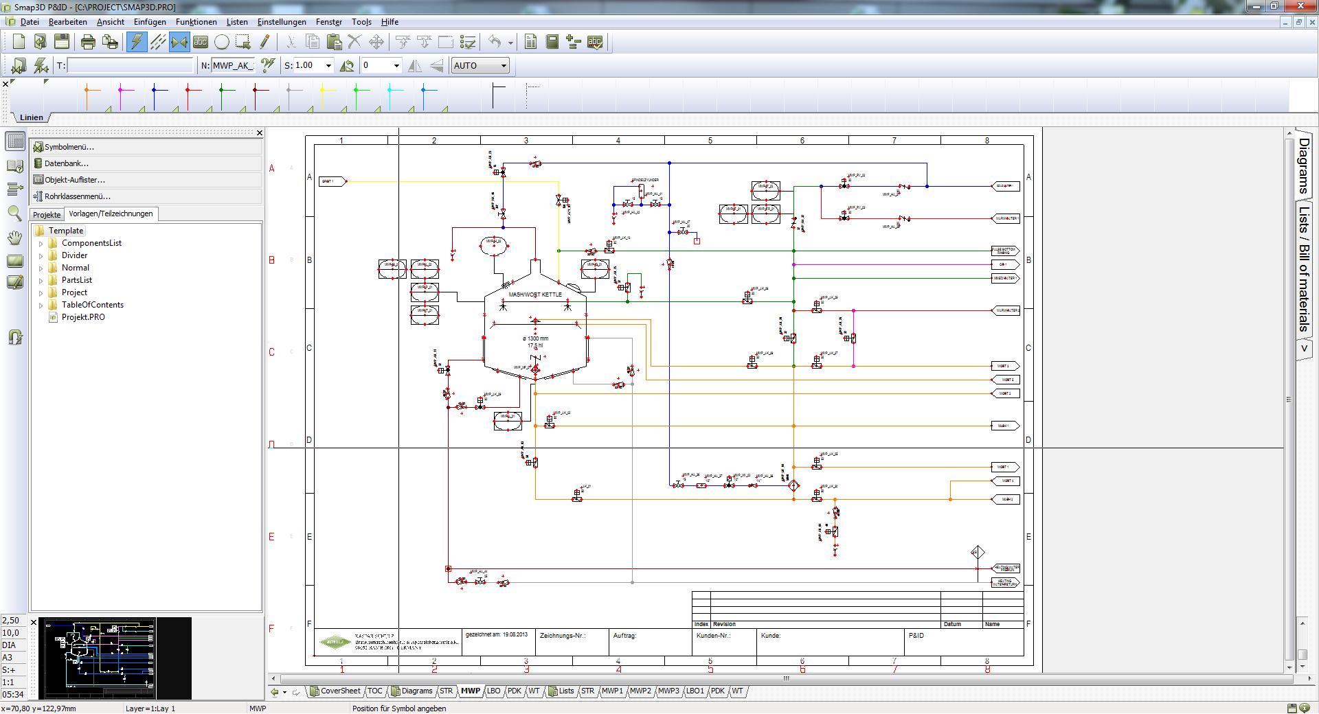 Smap3D Создание схем трубопроводов и контрольно-измерительного оборудования