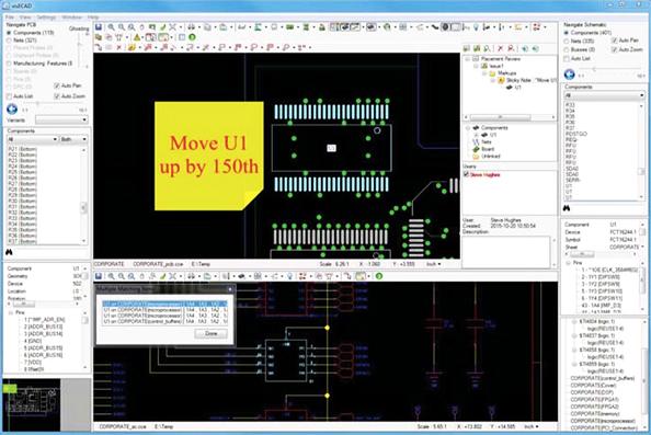 PADS Design Review При коллективной работе над проектом, примечания и заметки добавляются к схеме и топологии