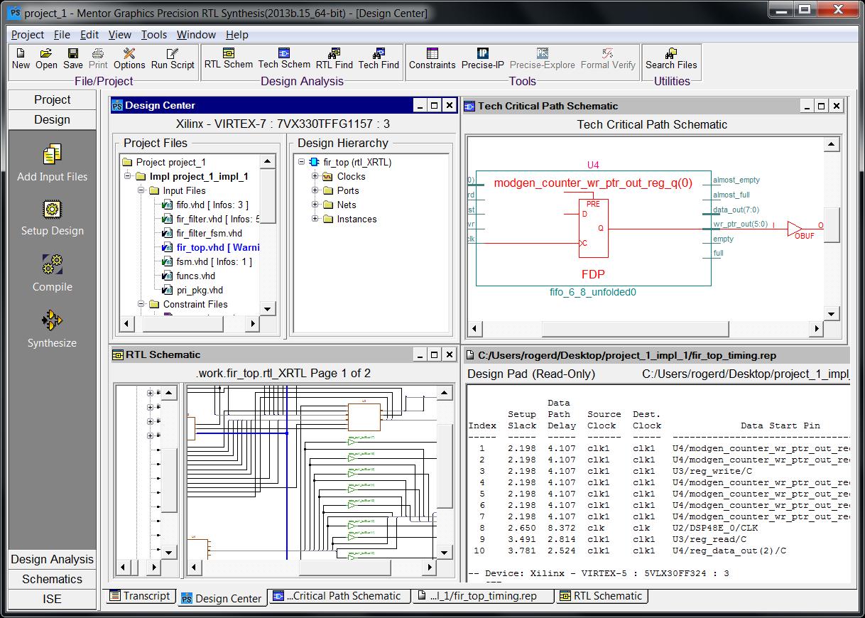 PADS FPGA Продвинутые технологии синтеза вне зависимости от производителя ПЛИС позволяют оптимизировать архитектуру для каждого устройства ПЛИС