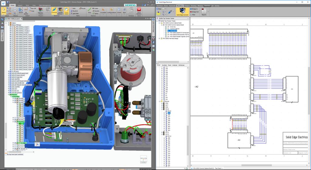 Настроенное рабочее место Solid Edge + Solid Edge Electrical.