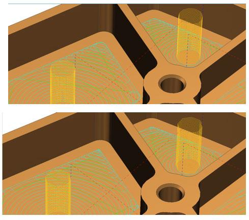 Solid Edge CAM Pro Полиморфная спираль